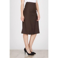 Helish Slit Skirt Brown
