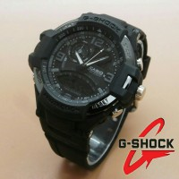 Jam Tangan G-Shock New Speedo Dualtime Fullblack