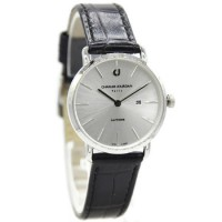 Charles Jourdan 1001-2312 Jam Tangan Wanita Leather Strap Hitam ring Silver