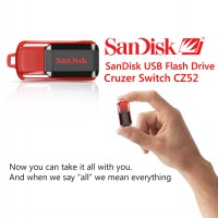 SANDISK FLASH DRIVE USB CRUZER SWITCH 16GB