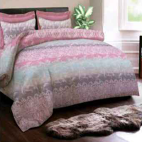 Sprei 'KINGRABBIT' Abs Lady Gaga Ungu Uk 160 x 200 (Double)