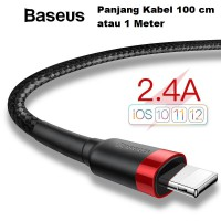 Baseus Kevlar Lightning Cable 100CM For iPhone 2.4A Fast Charging