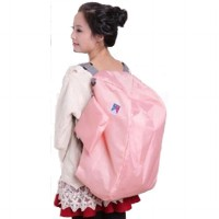 Iconic 3 Way Foldable Bag with Carrying Pouch: Color Pink