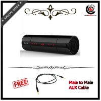 Bluetooth NFC Super Bass Light Sense Touch Portable Speaker with TF Card Slot - Black