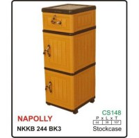 CONTAINER NAPOLLY NKKB 244 BK3 / LEMARI PLASTIK
