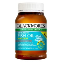 Blackmores Odourless Fish oil mini caps 400 capsules *Clearance
