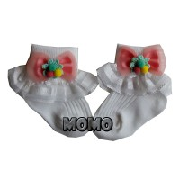 Kaos Kaki Bayi Mini Renda Pita - Baby Girl Sock mamimu Nb+