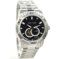 Charles Jourdan A03-12-2 Automatic Jam Tangan Pria Stainless Steel Silver Flat Hitam