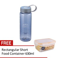BISFREE TWO TONE WATER BOTTLE TRITAN 650ML LIGHT BLUE FREE: Food Container 630ml