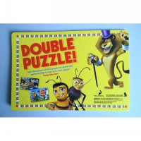 DOUBLE JIGSAW PUZZLE 'MADAGASCAR 3' & 'BEE MOVIE' SINGAPORE AIRLINES