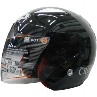 AVA Helmet – Helm AVA CROWN SOLID – KOREAN TECHNOLOGY – Hitam Metalic