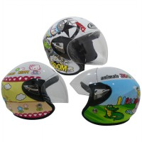 AVA Helmet KIDS JUNIOR DECAL Half Face – KOREAN TECHNOLOGY