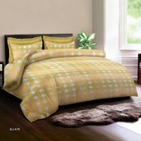 sprei double motif glam merk kingrabbit