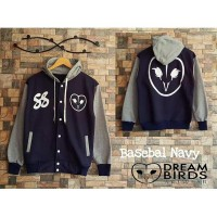 Sweater Hoodie Dream Birds Basebal Navy
