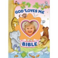 God Loves Me Bible, Newly Illustrated (Girls)