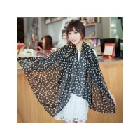HO1244B - Syal Fashion Kucing (Black)