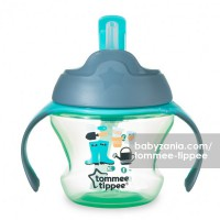 Tommee Tippee Weaning 1st Straw Cup For Baby 9m+ - Green Farmer