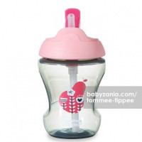 Tommee Tippee Trainer Straw Cup 7m+ - Pink Pear