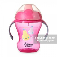 Tommee Tippee Trainer Sippee Cup with Handle 7m+ - Pink Pear