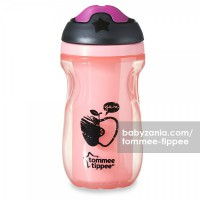 Tommee Tippee Insulated Sippee Cup 12m+ - Pink Apple