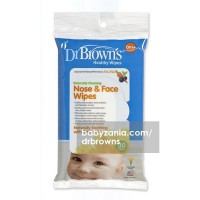 Dr Brown Healty Wipes Naturally Cleaning Nose & Face - 30 Sheet