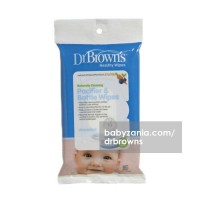 Dr Brown Healty Wipes Naturally Cleaning Pacifier & Bottle - 30 Sheet