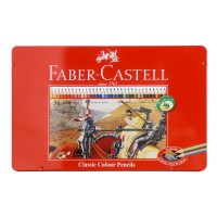 Faber Castell Colour Pencils in Tin Case (Isi 36)