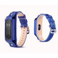 Xiaomi Mi Band 2 OLED Tali Replacement Band / Strap, Classic Leather Blue