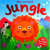 [Hellopandabooks] Hide-and-Seek Jungle Board Book (with touch & feel texture on front cover)