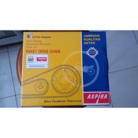GEAR SET SMASH NEW ASPIRA SHOGUN 125 PAKET DRIVE CHAIN