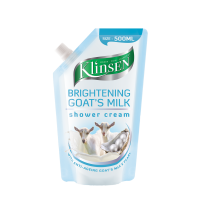 [500ML]Klinsen Shower Cream Brightening Goat's Milk(Refill)