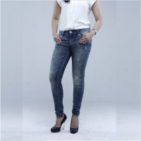 Celana Jeans Wanita - Express Mid Rise Destroyed Ankle Jeans [3120003]