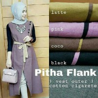 Long Cardigan Katun Cigarette Pitha / Dress Cardi Vest Katun Outer Murah