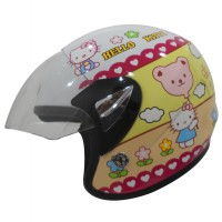AVA Helmet KIDS JUNIOR DECAL Half Face – KOREAN TECHNOLOGY – Motif HELLO KITTY