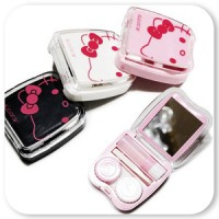 [Pretty Kitty Lens Case - Hello Kitty pretty pretty hard contact lenses, soft contact lens case lens barrel recommended Hard Lens