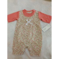[Belle Maison] Baby Girl Romper with Flower and Ribbon [PEACH]
