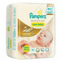 Pampers premium new born 13pcs