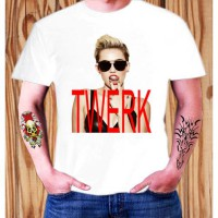Kaos Miley Cyrus Twerk Wrecking Ball Matt Pop Mix ELV 09
