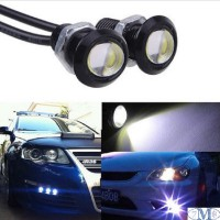 Lampu LED Mobil Eagle Eye DRL Daytime 3W 18MM - Blue (1 Paired = 2 Pcs)