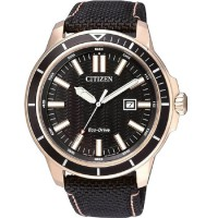 Citizen Jam Tangan Pria Hitam Gold Leather Strap AW1523-01E