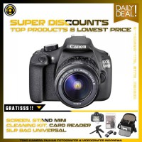 Canon EOS 1200D Kit 18-55mm f/3.5-5.6 IS II Combo Package - Black
