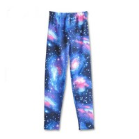 [globalbuy] Super Preferential 4 Color Style Universe Stars Milk Silk Flower Leggings Slim/3997680