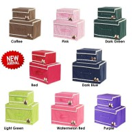 2 In 1 Set Foldable Butterfly Knot Storage Box (Kotak Penyimpanan Multifungsi 2 In 1 Set)