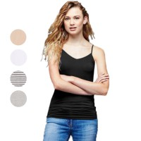 Cami Tank Top Women Built in b ra