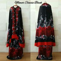 Mukena exclusive clasic rose black