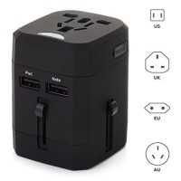 [esiafone #1 travel kit] LOOP Universal Travel Adapter 4 in 1 US UK EU AU Plug for 150+ Countries