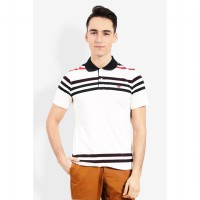 Country Fiesta MenS Polo Short Off White-AHRMCOFL0105