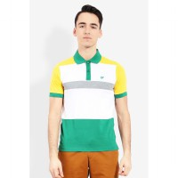 Country Fiesta MenS Polo Short Green-AHRMCOFL0107