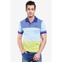 Country Fiesta Mens Polo Check Navy-AHRMCOFL0265