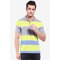 Country Fiesta Mens Polo Check Misty Grey-AHRMCOFL0281